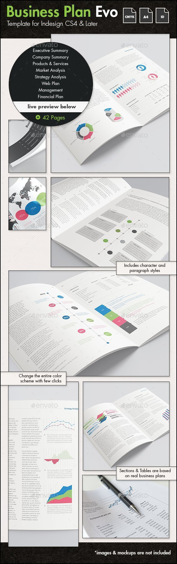 Business Plan Evolved - A4 Portrait Template - Corporate Brochures
