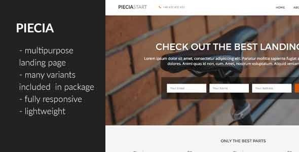 Piecia – One Page Landing Page