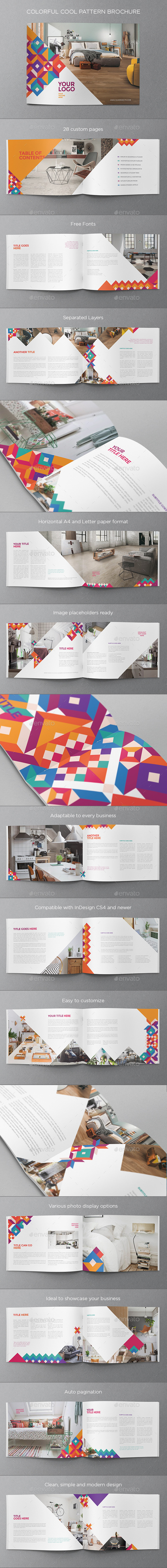 Colorful Cool Pattern Brochure - Brochures Print Templates