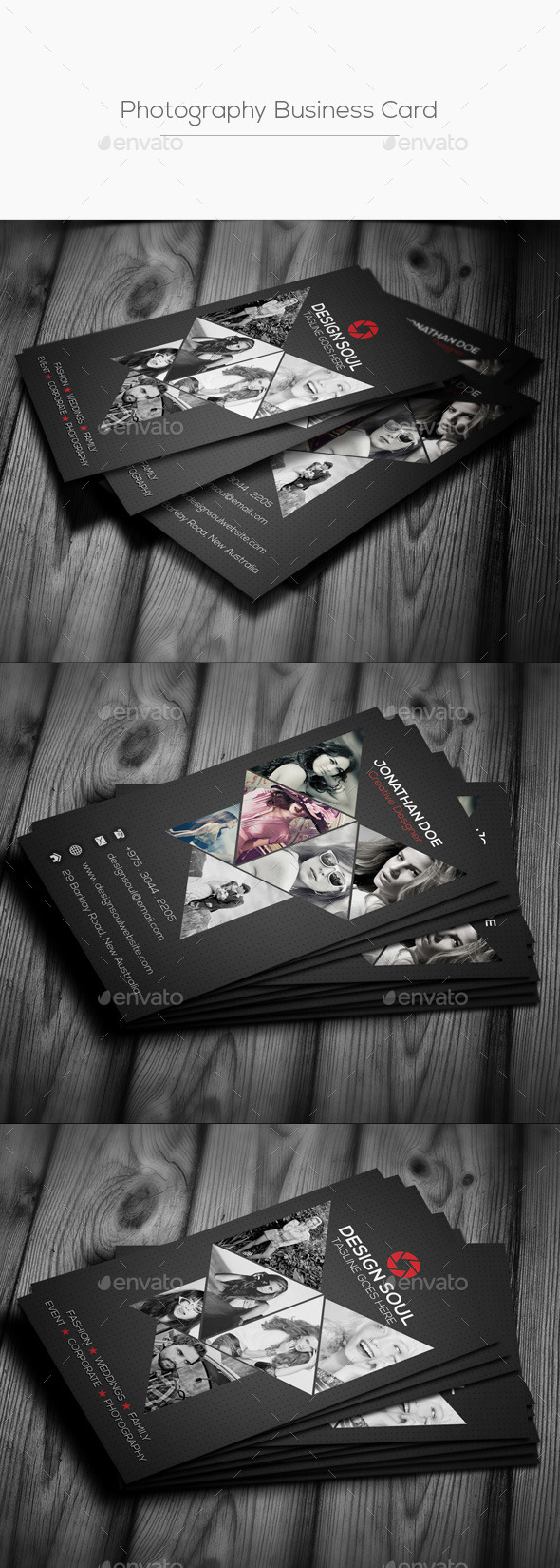 Vertical Photography Business Card - Creative Business Cards