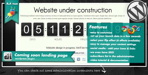 Coming soon landing page - 1 coming soon landing page - 01 plugin presentation - Coming soon landing page