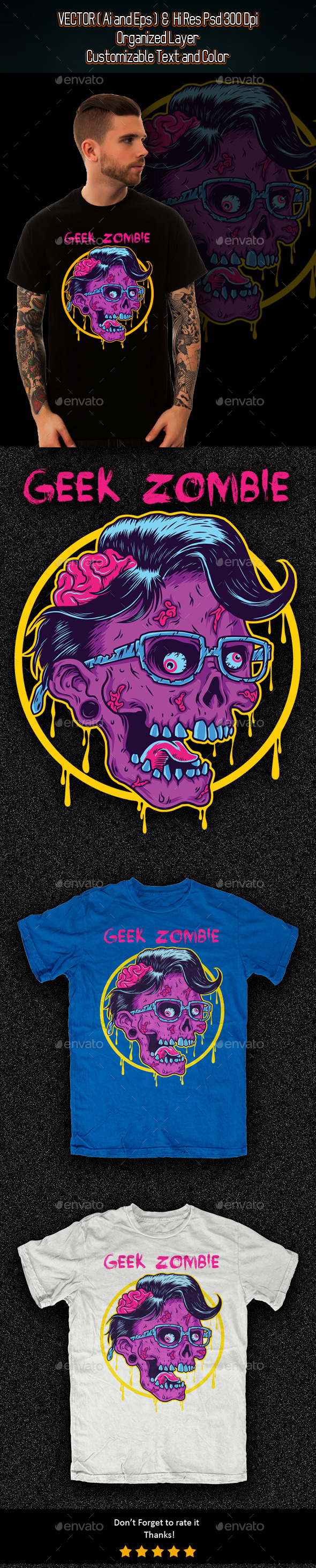 Geek Zombie - Funny Designs