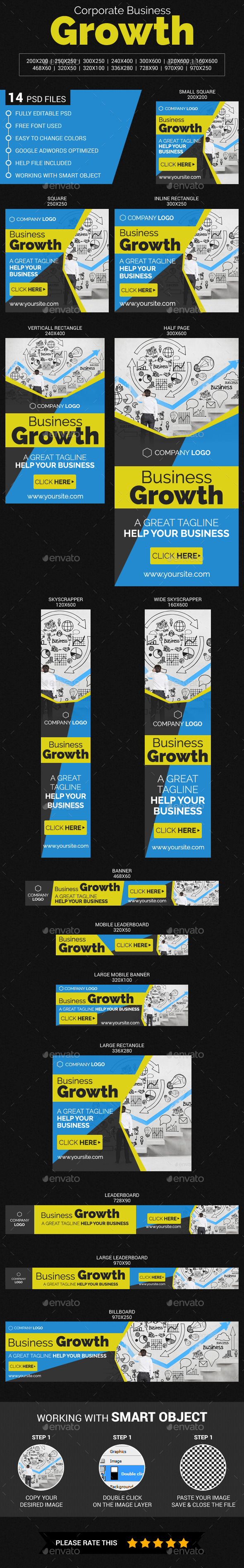 Corporate Business Growth - Banners & Ads Web Elements