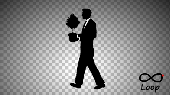 Businessman And Tree Silhouette