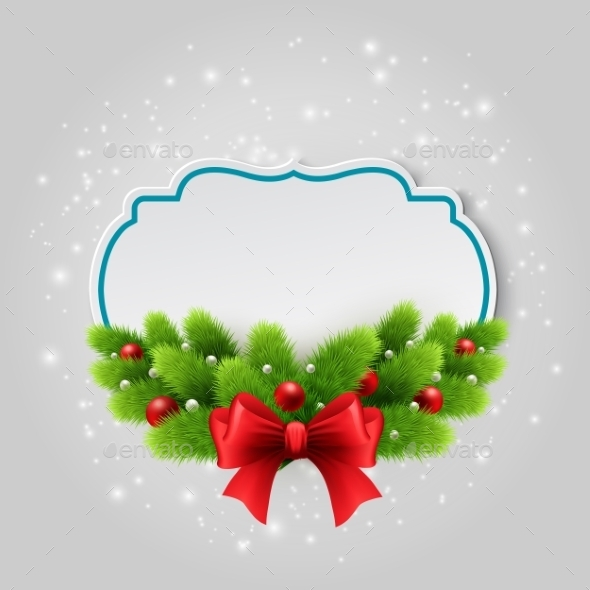 Christmas Paper Card Winter Background Vector