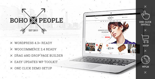 Bohopeople – Unique E-commerce WP Theme