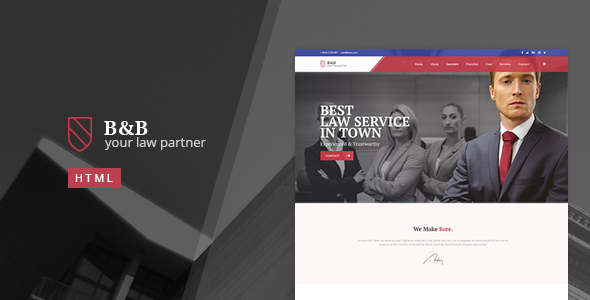 B&B - Law & Attorney HTML5 Template