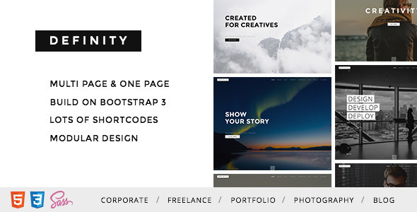 Definity – Multipurpose One/Multi Page Template