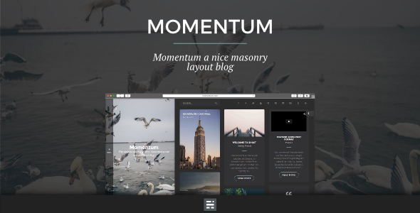 Momentum - Ghost Blog with Masonry Layout - Ghost Themes Blogging