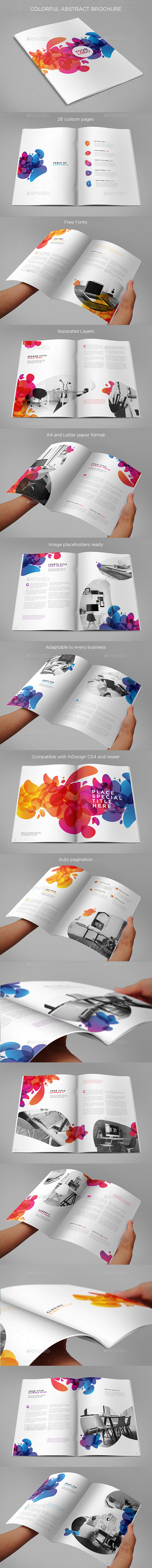 Colorful Abstract Brochure - Brochures Print Templates