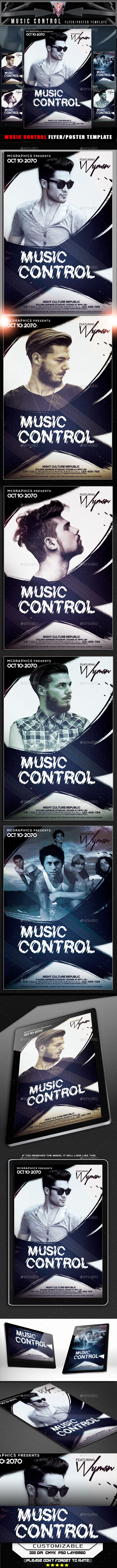 Music Control Flyer Template - Clubs & Parties Events