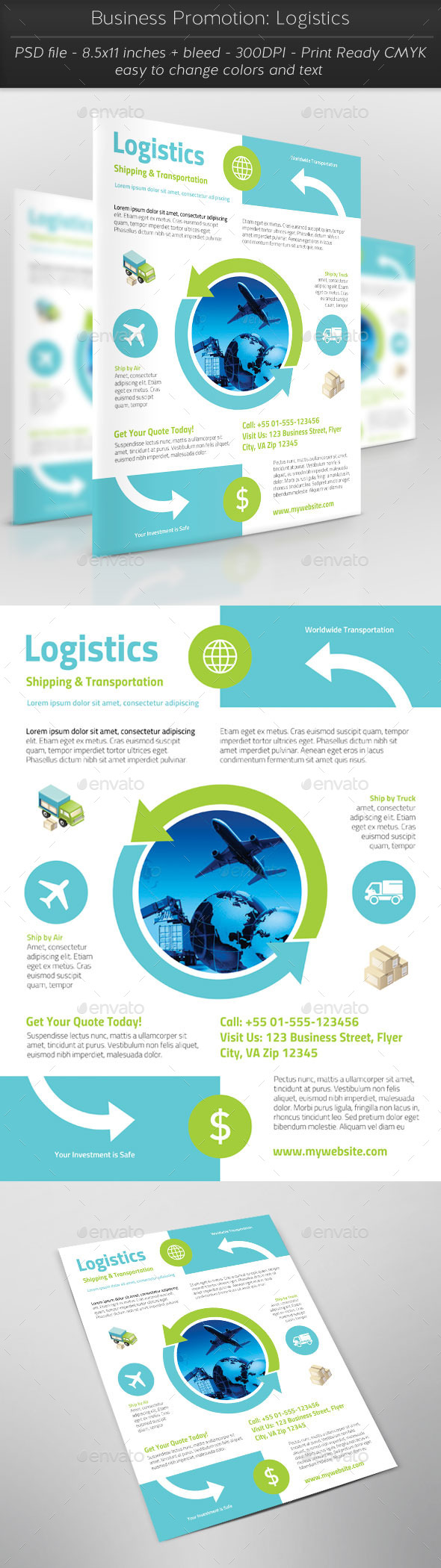 Business Promotion: Logistics - Corporate Flyers