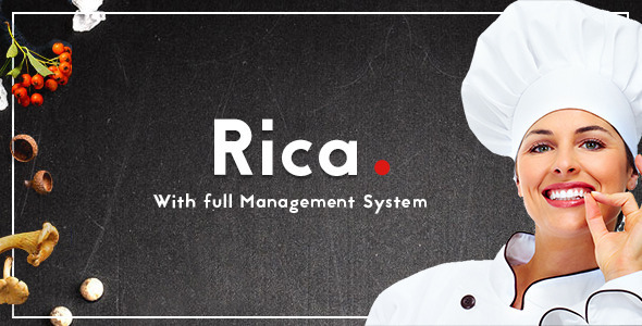 Rica - Multipurpose Restaurant & Cafe PSD Template - Retail PSD Templates