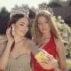 Two Attractive Girls In Beautiful Dresses - VideoHive Item for Sale