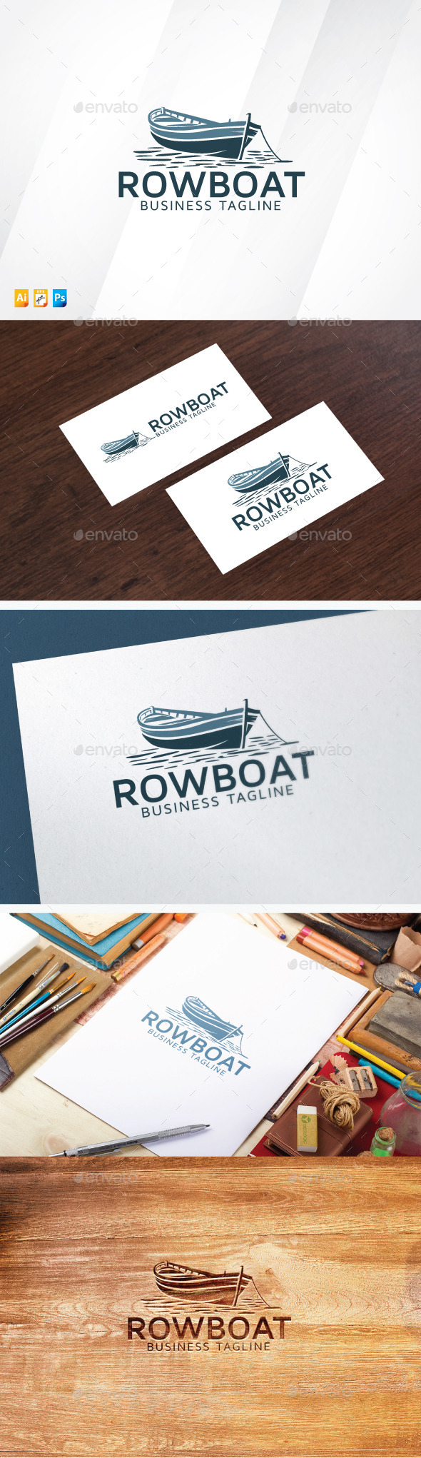 Rowboat - Objects Logo Templates
