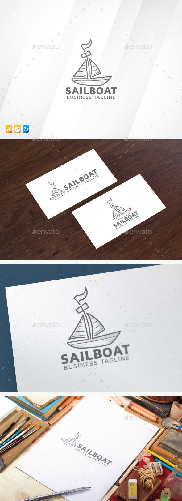Sail Boat - Objects Logo Templates