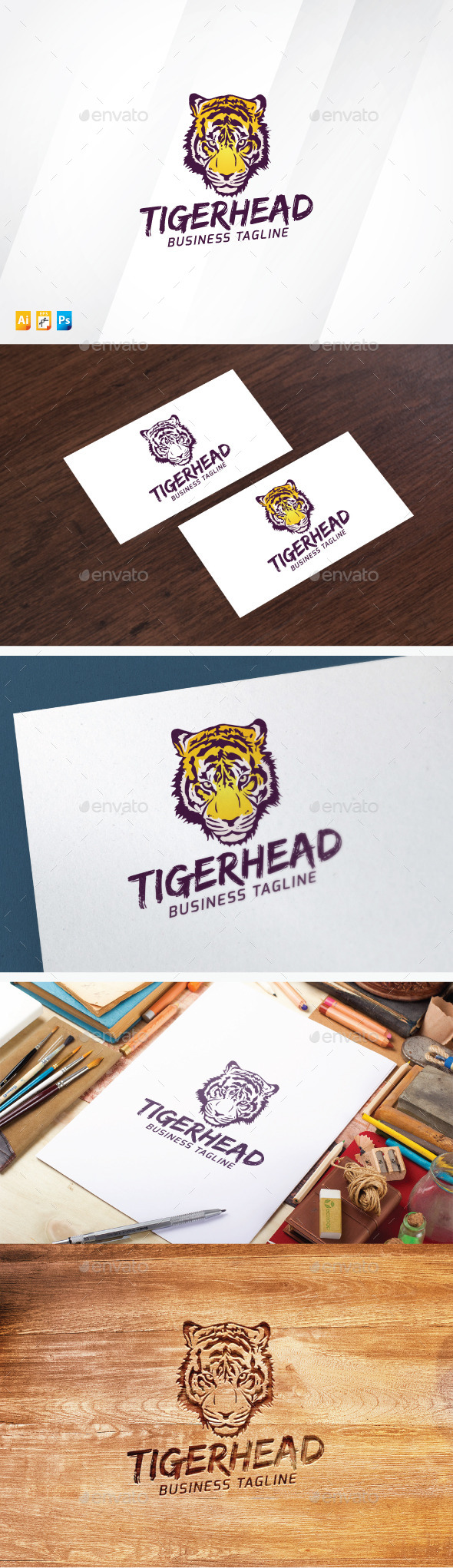 Tiger Head - Animals Logo Templates