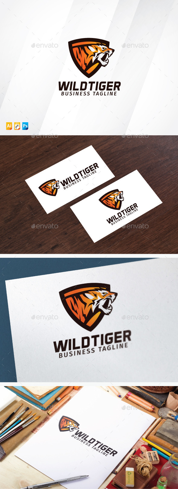 Wild Tiger - Animals Logo Templates