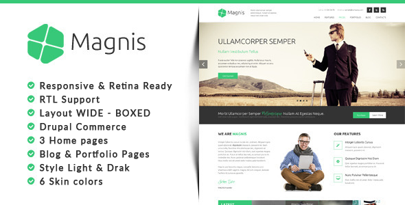 Magnis - Corporate Multipurpose Drupal Theme