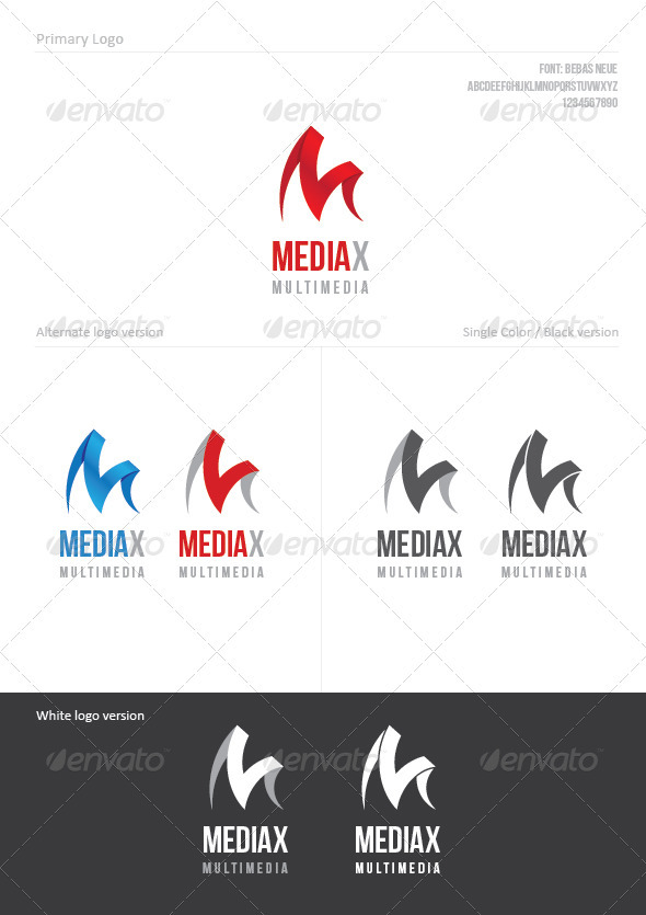 MediaX - Letters Logo Templates