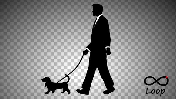 Businessman And Dog