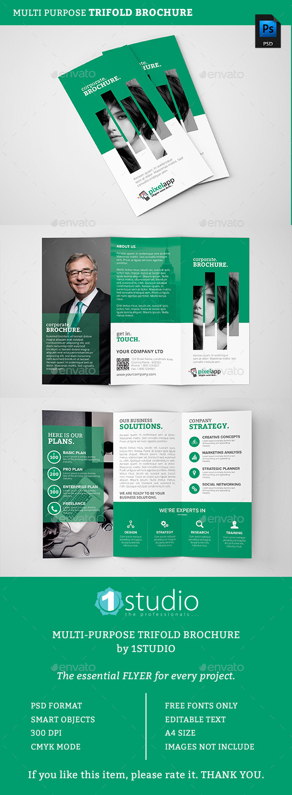 Corporate Trifold Brochure 06 - Corporate Brochures