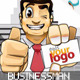 Cool Businessman Showing Business Card Animation - VideoHive Item for Sale