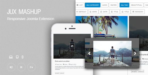 Mashup Responsive Grid Content Module For Joomla