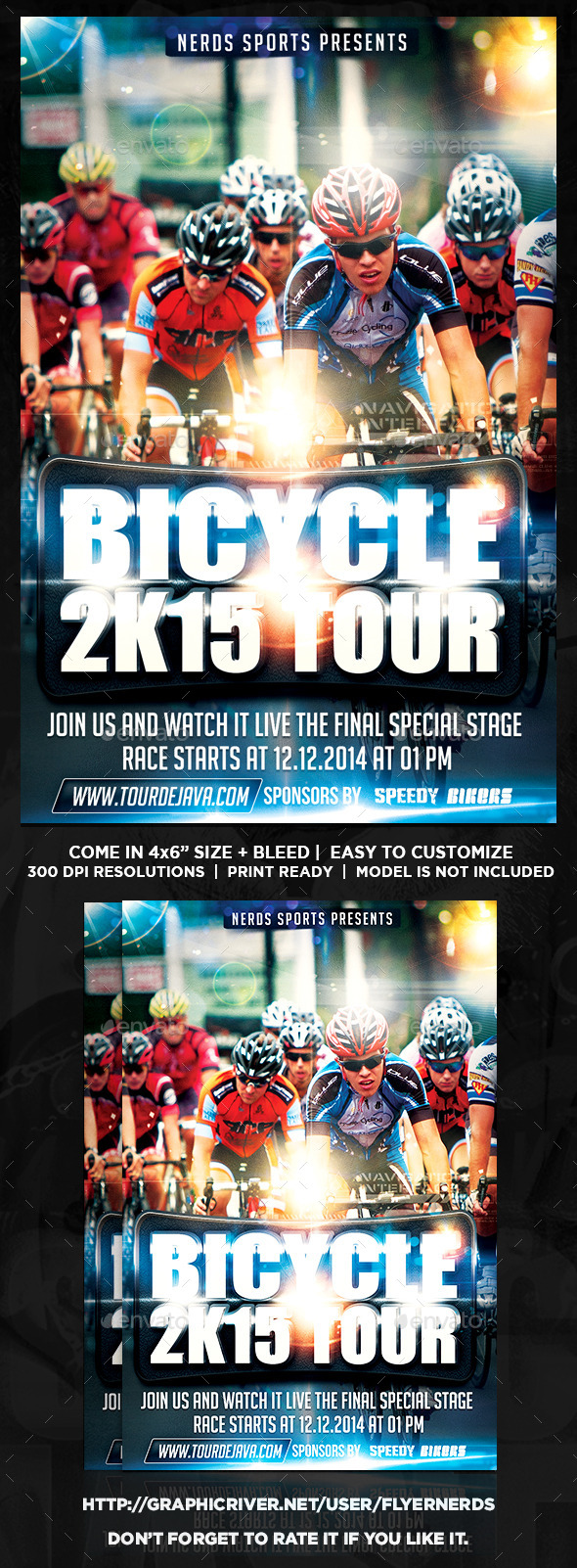 Bicycle 2K15 Tour Sports Flyer - Sports Events