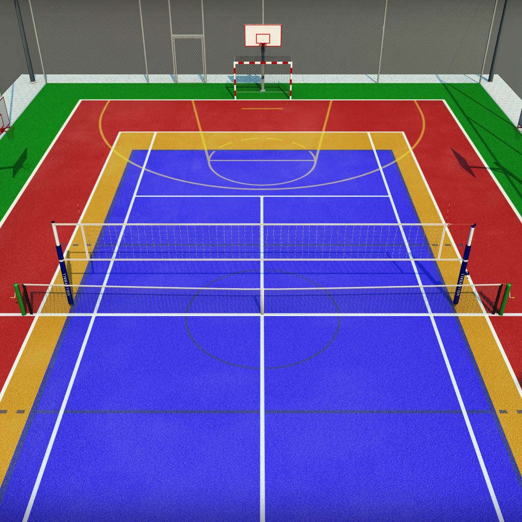 Multi Sport Court Centrum Pack By Kr3atura 3docean