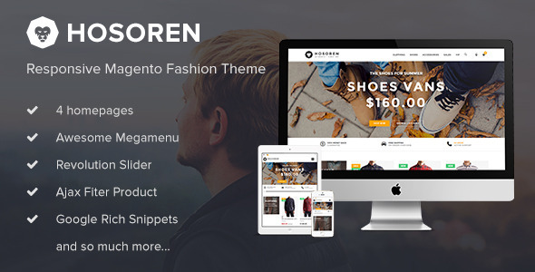 Hosoren – Responsive Magento Fashion Theme