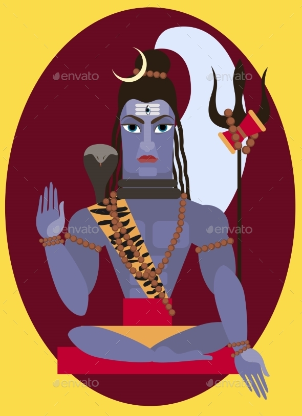 Vector Lord Shiva