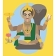Vector Lord Vishnu  - GraphicRiver Item for Sale
