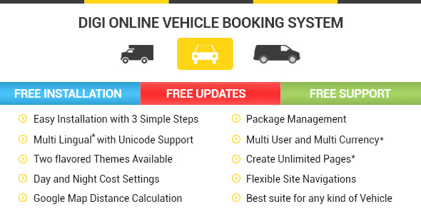 Digi Online Vehicle Booking System - DOVBS - CodeCanyon Item for Sale