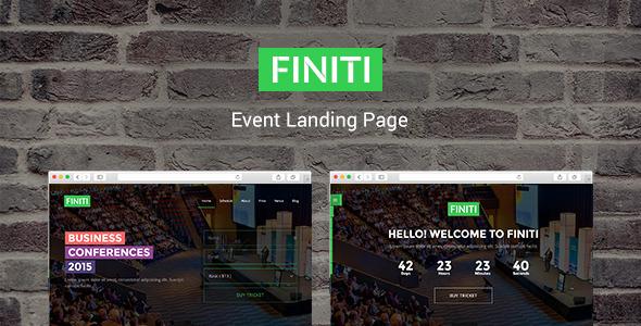 FIniti | Event Landing Page