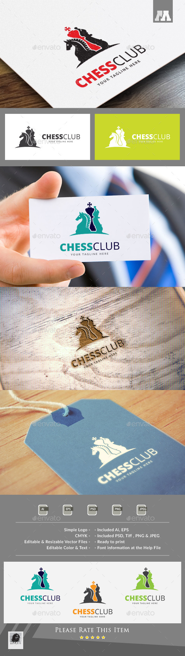 Chess Club Logo Template - Symbols Logo Templates