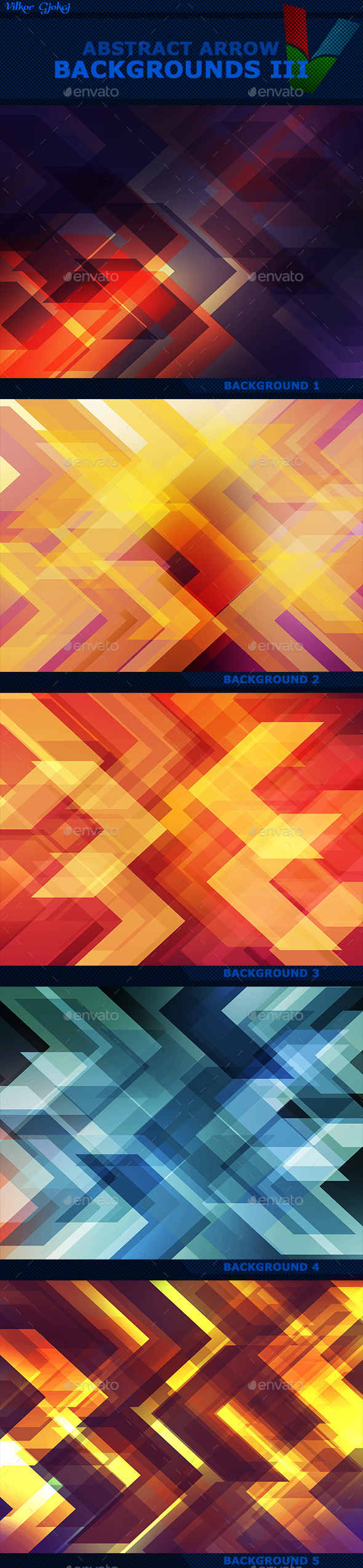 Abstract Arrow Backgrounds III - Abstract Backgrounds