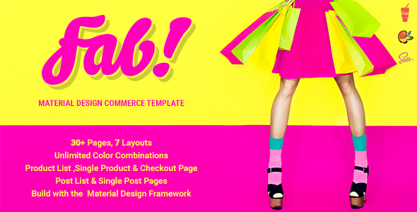 FAB! – Material Design Ecommerce HTML Template