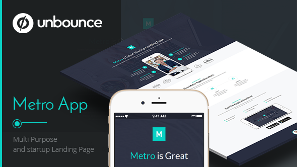 Metro App - Unbounce Landing Page
