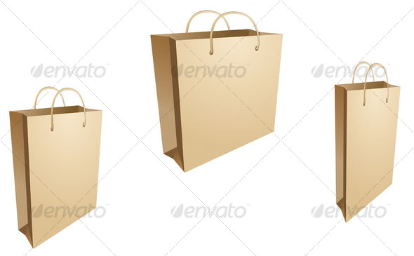 Isolated shopping bags - Man-made Objects Objects