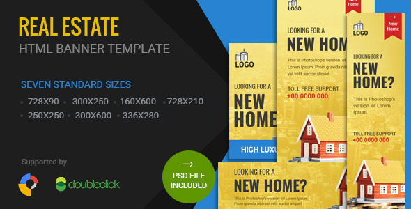 Real Estate | HTML5 Google Banner Ad 01  - CodeCanyon Item for Sale