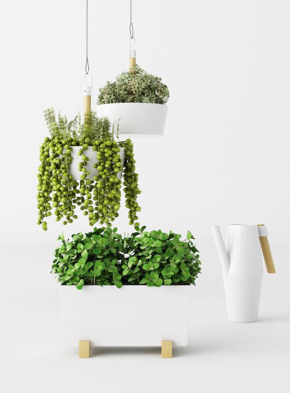 IKEA pots set + plans - 3DOcean Item for Sale