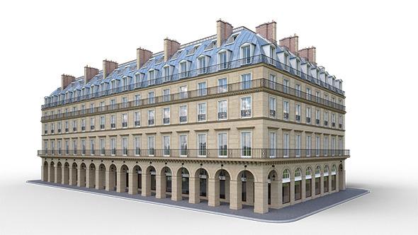 Building, Rue de Rivoli, Paris - 3DOcean Item for Sale
