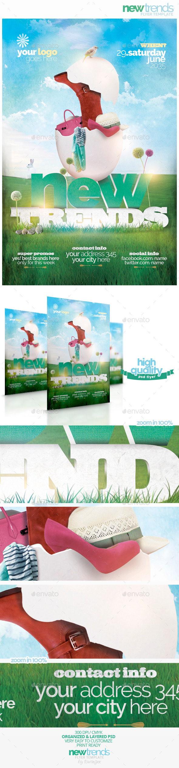 New Trends Flyer Template - Flyers Print Templates