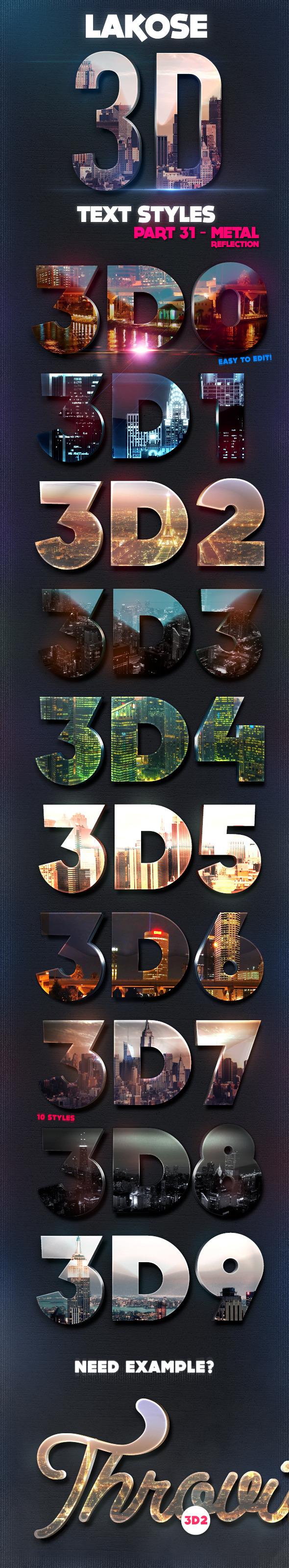 Lakose 3D Text Styles Part 31 - Text Effects Styles