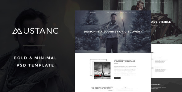 Mustang - Bold & Minimal HTML5 Template