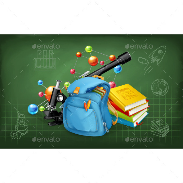 Back to School Illustration - Vectors