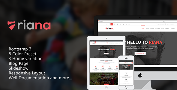 Riana – Responsive Charity Theme