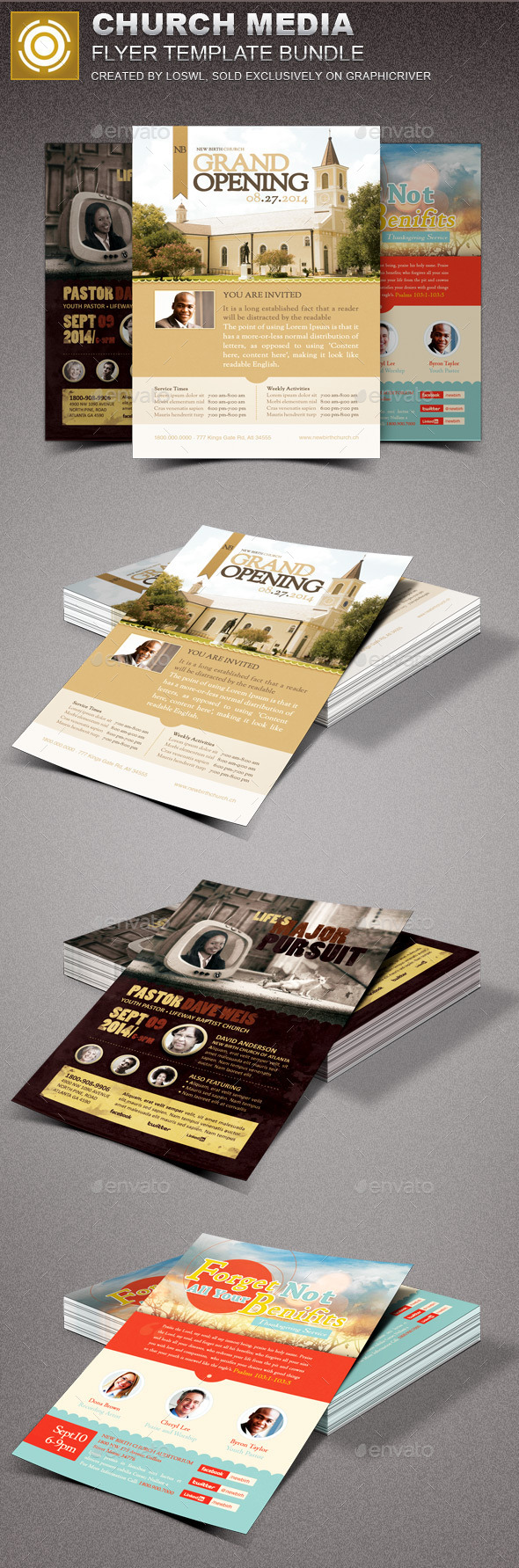 Church Media Flyer Template Bundle