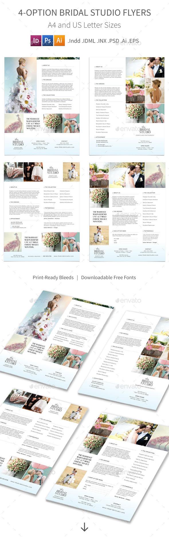 Bridal Studio Flyers – 4 Options - Corporate Flyers